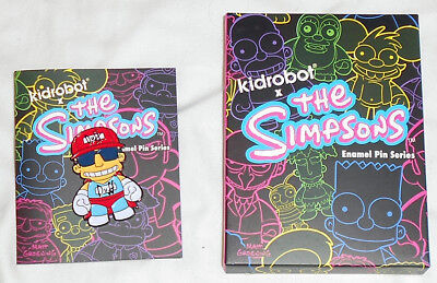 "Simpsons Duffman Kidrobot Series 2"" Enamel Lapel Pin Kid Robot"