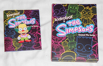 "Simpsons Krusty Kidrobot Series 2"" Enamel Lapel Pin Kid Robot"