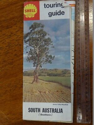 1 x OLD RETRO SHELL TOURING GUIDE SOUTH AUSTRALIA TRAVEL GUIDE. / BROCHURE / MAP