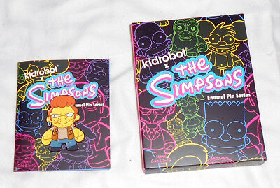 "Simpsons Snake Kidrobot Series 2"" Enamel Lapel Pin Kid Robot"