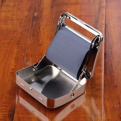 NEW Metal Automatic Cigarette Tobacco Roller Roll Rolling Machine Box Case Tin A