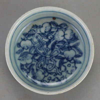 China old hand-carved porcelain Blue and white flower pattern Kung fu tea cup
