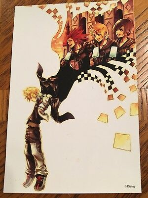 Square Enix kingdom hearts postcard