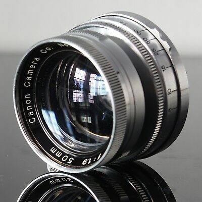 Canon ltm 50mm f1.9 collapsible serenar lens m39 for Leica or Canon rangefinders