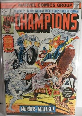 The Champions 4 VF/NM Hercules Black Widow Ghost Rider Angel Iceman TEAM!