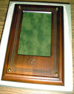 Lexus Dealer Showroom Engraved Wood Picture Frame Made By Woodrex New 11 ½""