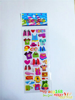 Cartoon Stickers Crafts Clothes Xmas Dress Up 1pc Puffy Kid Party Toy  Play Gift