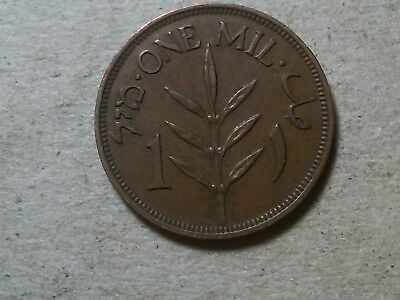 Israel Palestine 1 mil 1935 Holy Land coin