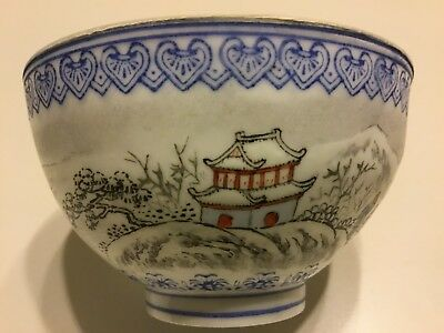 Pristine Exceptional Detail Qing Dynasty 4 Character Mark Chinese Porcelain Cup