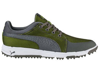 Puma Grip Sport Tech Golf Shoes - Quiet Shade/Acid Lime