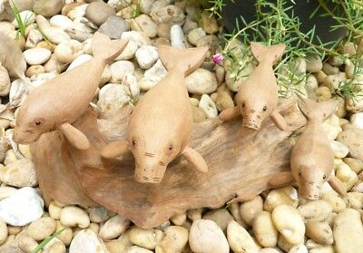 Carving Made of Teptaro Wood Lucky Dugong Handmade Handcraft  Home Decor