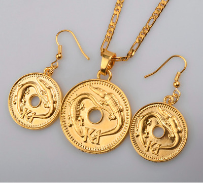 Traditional Design Papua New Guinea Necklace Earrings Ring Islander Wedding Set