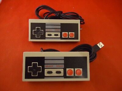 2 Nintendo NES USB Controller Gamepad Remote For PC Windows Mac Raspberry *NEW*