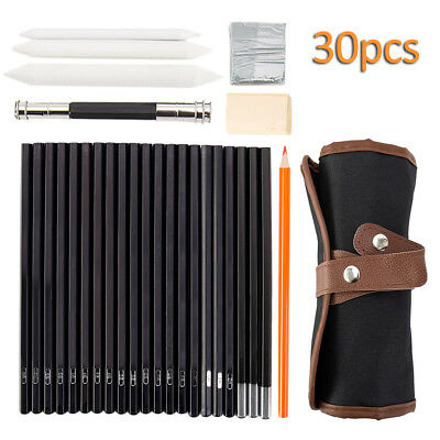 30 in 1 Drawing Sketching Pencil Pen Set Writing Creative Stationery Artist Tool