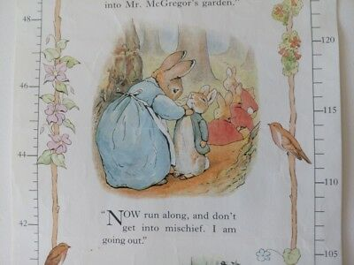 Peter Rabbit Growth Chart - The Beatrix Potter Collection 1993