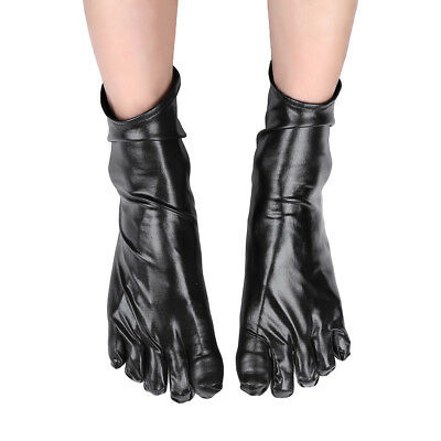 Latex Black Gum Shiny Strong Socks Feet Toes Foot Rubber Fetish Adult Doll Body
