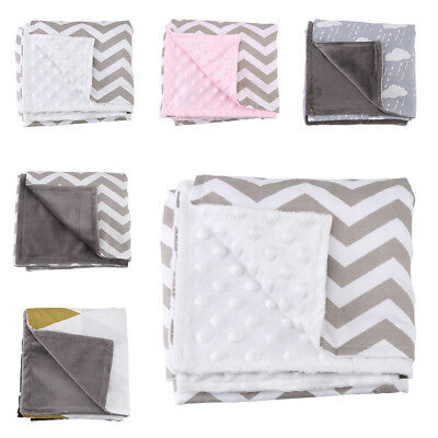 Baby Double-side Blankets Cotton Kids Blanket Boy Layer Girl Infant Warm Bedding
