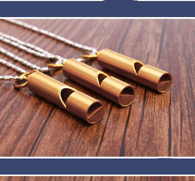 D02 3X Outside Camping Survival Rescue Brass Safe Emergency Whistle Referee M