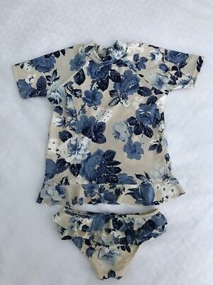 Zimmermann Girls Sweet Floral Rashie And Frill Pant Swimmers Size 6 RRP $145.00
