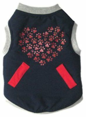 WHOLESALE LOT OF 12 Red Heart Dog Jacket, Small, Blue  (REVERSIBLE)