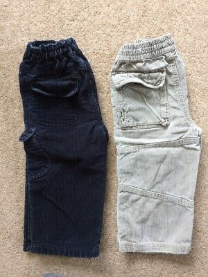Boden And John Lewis Trousers Corduroy 18-24months 1 1/2-2years Good Condition