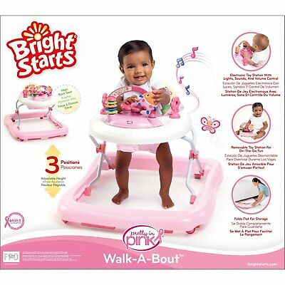 Infant Baby Girl Activity Walker Jumper Bouncer Walk Stand Activity Seat Toy NEW