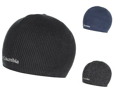 35a399daea9 Columbia Whirlibird Watch Cap Beanie Black Gray Navy Knit One Size Mens  1185181