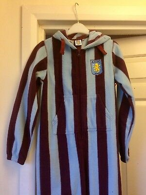 Aston Villa Boys All in One Pyjamas L Large