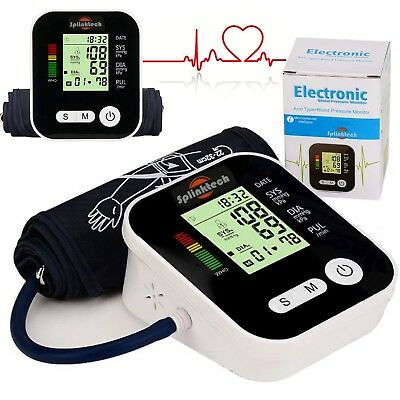 Digital Blood Pressure Monitor Meter Automatic Upper Arm Intellisense 180 Memory