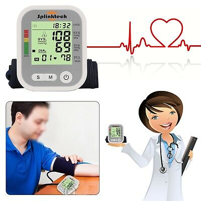 UK Automatic Digital Blood Pressure Monitor 180 Memory Upper Arm Intellisense HQ
