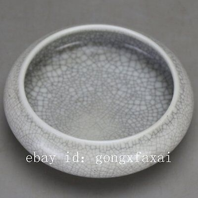 Chinese old hand-carved porcelain white glaze writing-brush washer