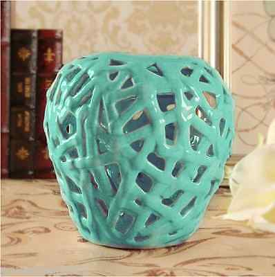 European Simplicity Ceramic Hollow Out Home Decoration Wedding Gifts Vase &6