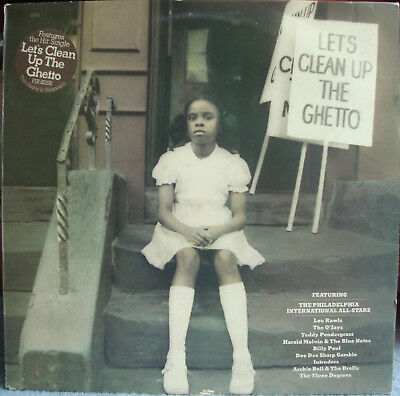 "Various Artists ""let's Clean Up The Ghetto"" Philly Int Lp (Cbs) S Pir 82198 1977"