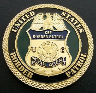United States BORDER PATROL Challenge Coin FREE COIN STAND