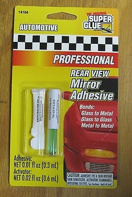 Lot Of Three (3) Super Glue Professional  Rear View Mirror Adhesive 14104