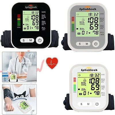 Digital Blood Pressure Monitor Automatic Upper Arm Intellisense 180 Memory SM