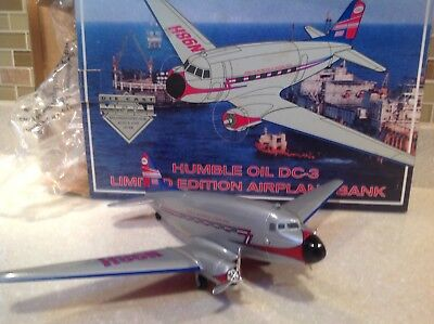 Humble Oil Dc-3 Commemorative Die Cast Airplane Bank 1994