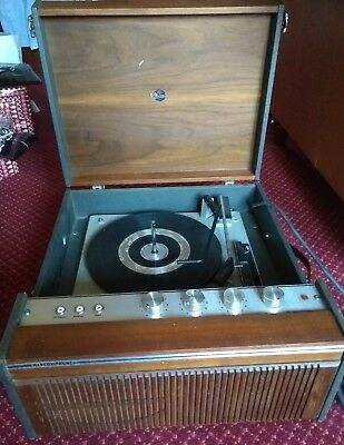 Vintage Wooden Cased G.marconi Record Player
