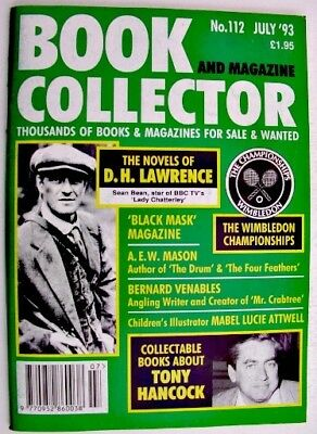 BOOK & MAGAZINE COLLECTOR July 1993 112 DH Lawrence Tony Hancock Mabel Lucie Att