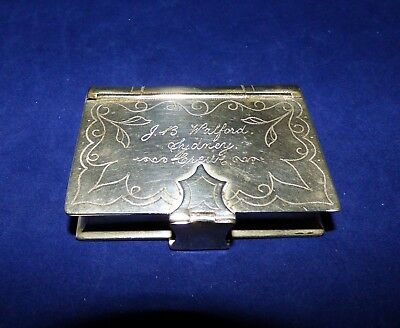 VICTORIAN Silver - Snuff Box/Card Case