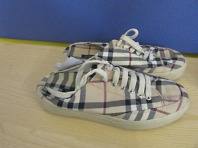 Burberry Check Slip On Trainers Mules Size 39 6 ##nun A23 Jt