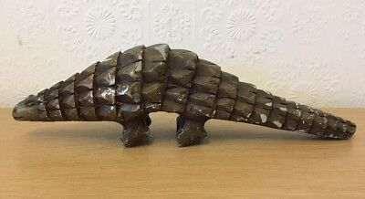 Antique Hand Carved Hard Stone Tribal Pangolin
