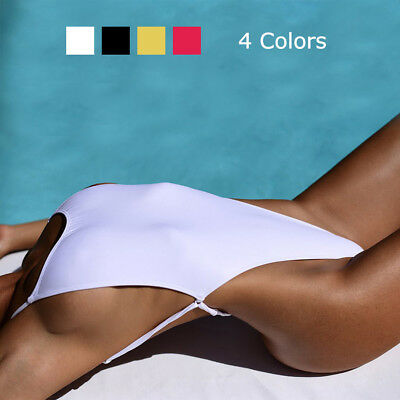 Womens Sexy Thong Swimwear One Piece Swimsuit Backless Cut out Bodysuit Monokini