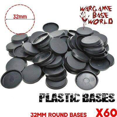 Lot of 60 - 32mm round bases for table games
