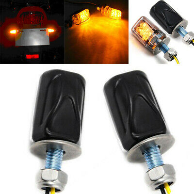 2pcs 12V 6LED Motorcycle Mini Turn Signal Light Blinker Indicator Lamp Amber