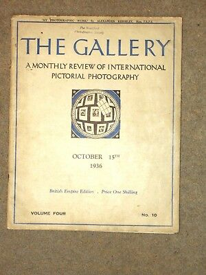 The Gallery. Photography Magazine. Alexander Keighley. 1936. Echague.