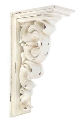 LARGE RUSTIC CORBELS / BRACKETS Distressed Antique White Wood Corbels Set Of 2