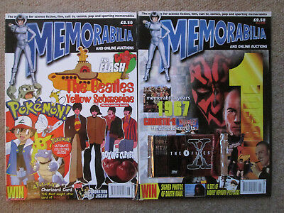Memorabilia Magazine. Issue 1 and 2.  May / June 2000.  Star Wars, X Files cards
