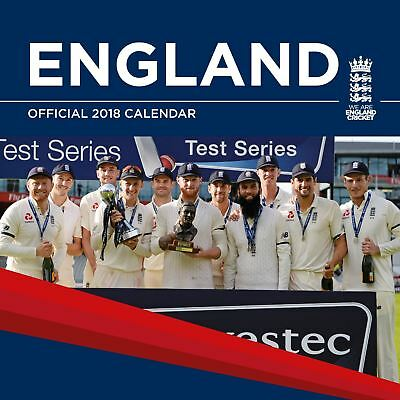 England Cricket Official 2018 Square Wall Calendar