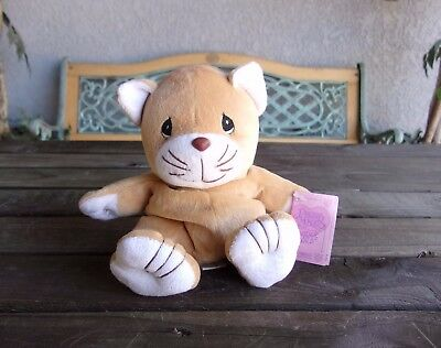 Precious Moments Tender Tails Cat Kitten Bean Bag Plush Doll Brown Vintage